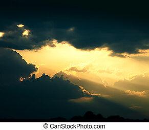 藝術, 天空, 黑暗, 戲劇性, 背景, 云霧