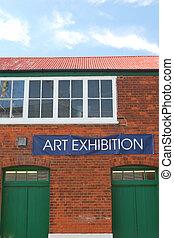 藝術, 展覽, 簽署