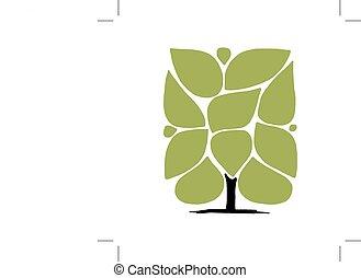 藝術, 樹, 由于, 框架, infographic, 概念