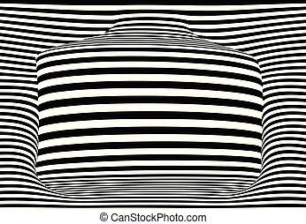 藝術, 空間, 矢量, 背景, 有條紋, 模仿, 3d