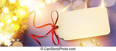 藝術, 聖誕節, 假期, 光, 上, 藍色的背景