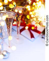 藝術, 聖誕節, 或者, 新年聯歡會