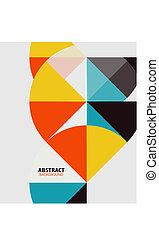 藝術, 鮮艷, 現代, 几何, 樣板, 最小