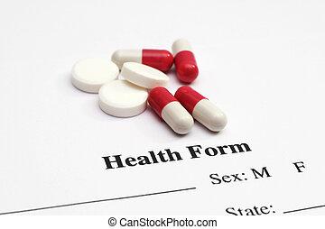 藥丸, 上, 健康, 形式