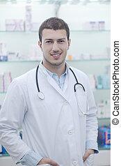 藥房, 人, 藥劑師, 化學家, 藥房
