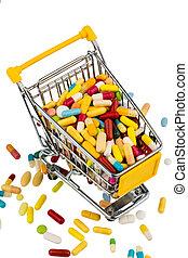 藥片, 鮮艷, 車