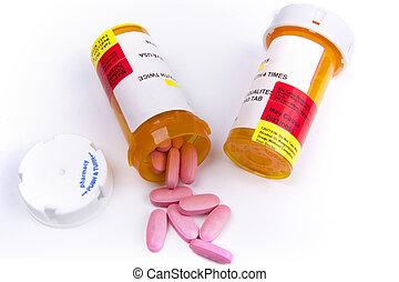 藥物處理, 容器, 由于, 藥丸