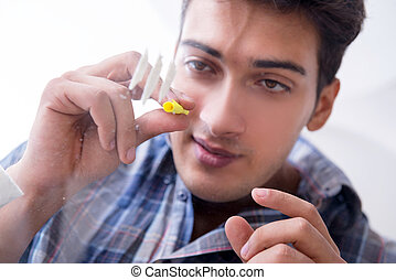 藥物迷戀者, 用力吸气, 可卡因, 麻醉劑