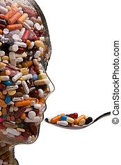 藥, 以及, 小塊, 到, 醫治, 疾病