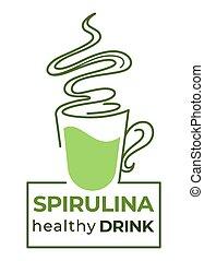 藻, detox, 健康, 飲みなさい, spirulina, 健康, 葉