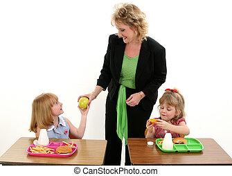 蘋果, 為, 老師