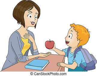蘋果, 老師