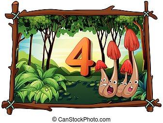 蘑菇, 四, 森林, 第4數字