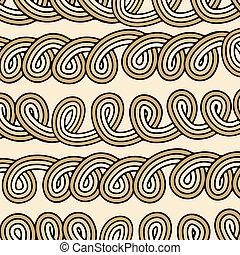 處於混亂狀態, knots-bundle, seamless, 繩子