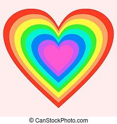 虹の色, 大きい, 心