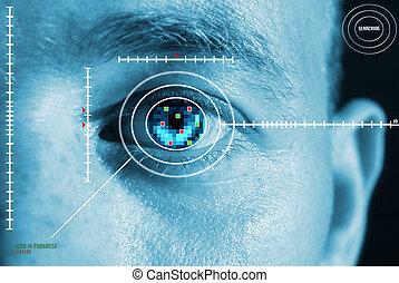 虹膜, 掃描, 安全