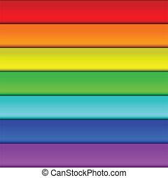 虹色, panels.