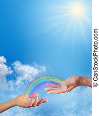 虹, あなた, 共有