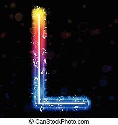 虹, きらめく, きらめき, ライト, アルファベット