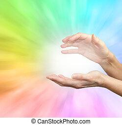 虹, エネルギー, 治癒, フィールド
