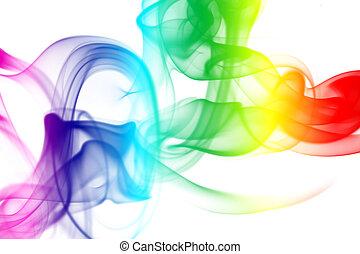 虹, カラフルである, 煙