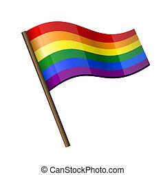 虹, カール, 旗, アイコン