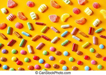 虹, キャンデー, カラフルである, 背景, パーティー