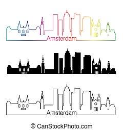 虹, スタイル, 線である, v2, スカイライン, アムステルダム