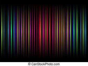 虹, ストライプ, vert