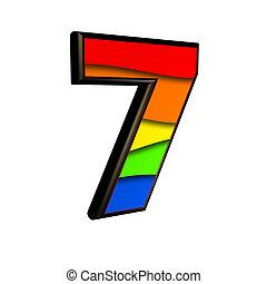 虹, ディジット, -, 7, 手ざわり