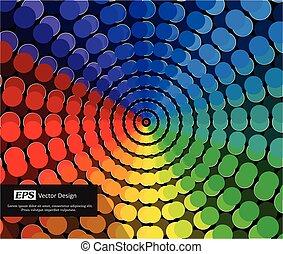 虹, ディスコ, 背景, ライト