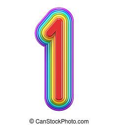 虹, ナンバー1, 1, 同心である, 3d