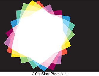 虹, フレーム, 黒い背景