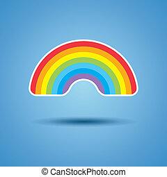 虹, ベクトル, アイコン