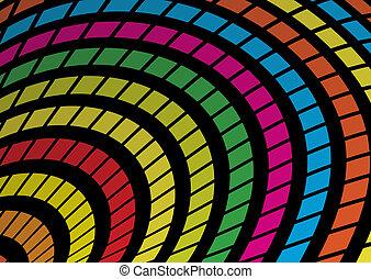 虹, ベクトル, 正方形, 有色人種