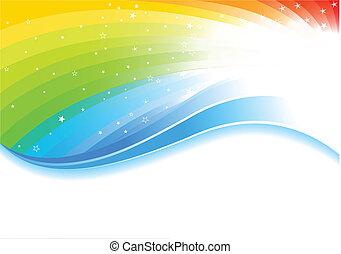 虹, ベクトル, 背景