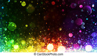 虹, ライト, 背景, パーティー