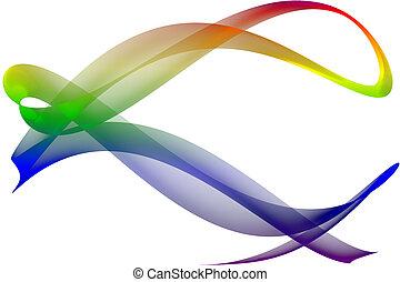 虹, リボン