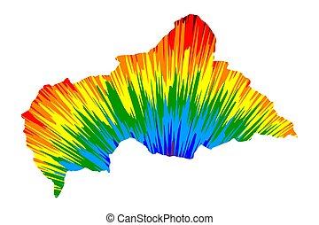 虹, 作られた, 中央である, カラフルである, 爆発, 色, (car), -, パターン, 地図, 共和国,...