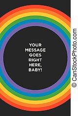 虹, 円, すばらしい, template., 背景