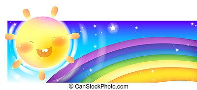 虹, &, 太陽