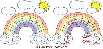 虹, 容易である, 迷路