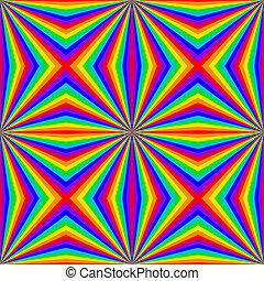 虹, 幾何学的, seamless, パターン