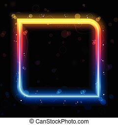 虹, 広場, ボーダー, swirls., きらめく