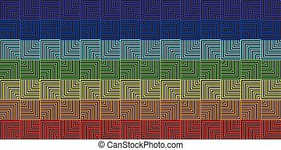 虹, 広場, 抽象的, -, イラスト, ベクトル, 背景, 線, 幾何学的