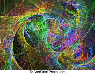 虹, 抽象的なデザイン, 鮮やか