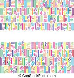 虹, 抽象的, 旗, 色