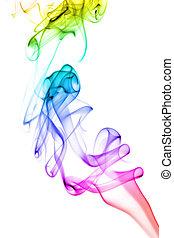 虹, 抽象的, 煙, 背景