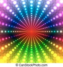 虹, 抽象的, 背景, ディスコ