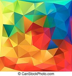 虹, 抽象的, 色, ベクトル, 背景, 三角形